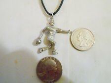 bling pewter bowling indoor sport ball game Charm Pendant hip hop chain Necklace