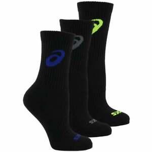 ASICS Contend Crew 3-Pack Mens Running Socks   Socks Moisture Wicking - Size S