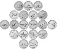 ✔ Russia 25 rubles 2019 & 10 rubles 2020 UNC Great victory Set 20 pcs WWII