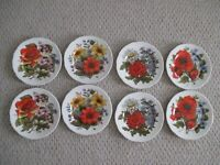 St George fine Bone China Floral Plates  Set of 8  England