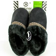 Isotoner Woodlands Slippers Womens Size Large 8.5/9 with Heel Cushion