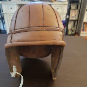 Antique Style Leather Old Football Helmet Vintage