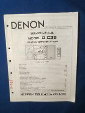 DENON D-C35 COMPONENT SERVICE MANUAL ORIGINAL FACTORY ISSUE GOOD CONDITION