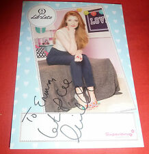 NICOLA ROBERTS SIGNED LIL LETS SIGNED PROMO CARD TO EMMA & 80 PICS GIRLS ALOUD!