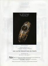Publicité Advertising 1990  Montre  Aldebert  Montre bracelet clip