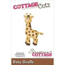 cottagecutz CC005 baby giraffe giraffa carta gomma crepla sizzix big shot
