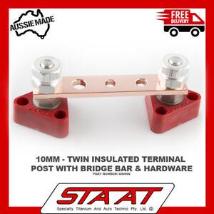 TITANIUM electrical junction block Terminal Posts Kits and copper bridge bar kit