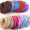 50Pcs Thick Endless Snag Free Hair Elastics Bobbles Bands Ponios Multi-color