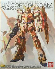 Bandai MG 1/100 RX-0 Unicorn Gundam Ver. KA Model Docks at Hong Kong II (Gold)