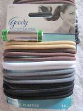 14 Goody Big Thick Fix Ouchless Neutral Hair Bands No Metal Elastic Ponytailers