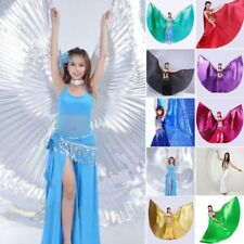 AU Belly Dance Isis Wings with 2 Sticks Indian Dancing Costume Fancy Egypt Wings