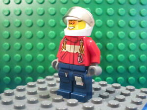 Lego Minifig: #CTY0278 Fire - Pilot Male, Red Fire Suit with Carabiner
