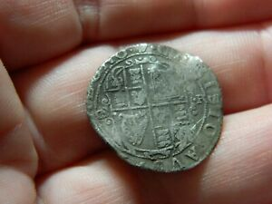 Post Medieval King Charles hammered silver sixpence 6p coin detecting detector