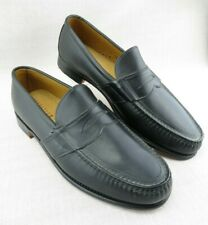 Nordstrom USA Made Black Leather Sole Penny Loafers Men's US 11 D Moc Toe Casual