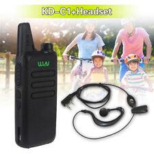 WLN KD-C1 UHF 400-470MHz Handheld Mobile Radio 16CH+Baofeng 15R Headset Earphone