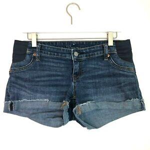 Gap cuffed maternity shorts stretch size 26 2