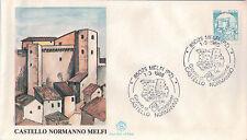FDC ITALIA PRIMO GIORNO DI EMISSIONE 1988 MELFI PZ CASTELLO NORMANNO 7-51