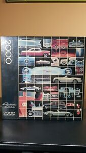 Vintage Classic Cars Jigsaw Puzzle 2000 pieces Springbok Hallmark 1987 Sealed!