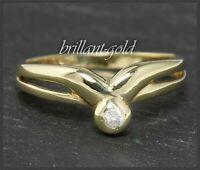 Diamant Damen Ring; Brillant mit 2,5mm; River E & Si; 585 Gold; Solitärring