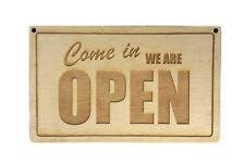Wooden Open Closed Shop Door Sign - double sided, ideal for cafes, shops