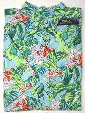 Ralph Lauren Shirt XL Tall Blue Hawaiian Floral Print