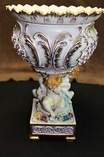Antique Dresden Porcelain Pedestal Stunning Richard Klemm Centerpiece c1900 tall