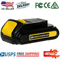 For NEW DEWALT DCB201 20V 20 Volt Max Li-Ion Battery Pack Upgrade Over DCB207 US