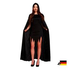 DA SCHWARZ SAMT VELVET UMHANG cape Halloween Fasching Verkleiden Zauberer Hexe