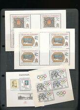 Czechoslovakia Prazsky Hrad Prague Art Sport Sheets MNH x 6 (AUK33)
