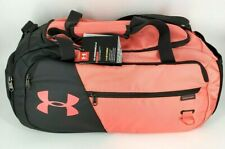 "Under Armour UA Undeniable 4.0 Small 22"" Duffel Bag Storm Gym BLACK PINK NEW"