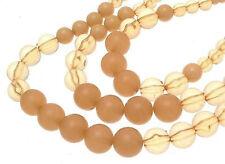 Beaded Necklace three strand peach bead design IAS102