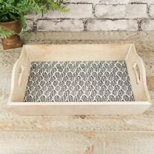 Amazonia Collection Serving Tray Black & White Leaf Pattern