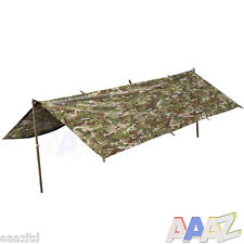 Waterproof British Army Style BTP Basha Camo Military Tarp Shelter Rain Cover