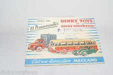 DINKY TOYS CATALOGUE CATALOG AVRIL 1956 FRENCH EXCELLENT CONDITION