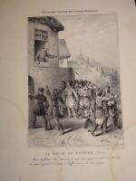 RARE Litho XIX FOLLE du DNIEPR UKRAINE KIEV RUSSIE RUSSIA ROMANTISME 1830 b