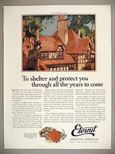 Eternit Asbestos Shingles PRINT AD - 1924 ~ roofing