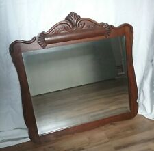Antique Ornate Carved Wood Wall Mirror / Victorian Mantle Mirror, Refinished