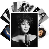 Postcards Pack [24 cards] Whitney Houston Pop Music Vintage Posters CC1241