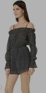The Fifth Label Size S 8 Black Night Playsuit Midnight Sky Festival Party BNWT
