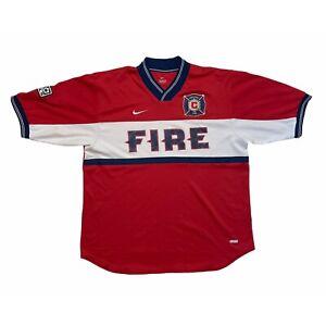 🔥Chicago Fire Home Football Shirt Original Nike MLS Rare 2000/02 - Large🔥