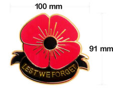 RED POPPY AUSTRALIAN ARMY VINYL DECAL100MM BY 91 MM  gloss CONTOUR CUT