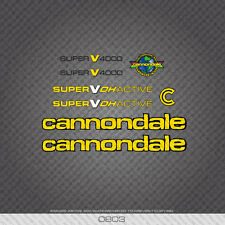 0803 Cannondale Super V 4000 Bicycle Stickers - Decals - Transfers - Yellow