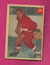 1954-55 PARKHURST # 34 RED WINGS MARCEL PRONOVOST CARD  (INV# A7566)