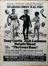 The Great Course Natalie Bois, Tony Curtis, Jack Lemon Vintage Film Annonce 1966