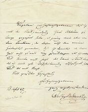 221-AUTOGRAPHE - FRÉDÉRIC GUILLAUME IV - BERLIN - ALLEMAGNE - 1827