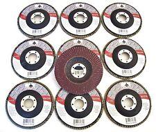 "10 GOLIATH INDUSTRIAL 4-1/2"" FLAP DISCS 180 GRIT FD412180 ANGLE GRINDER WHEEL"