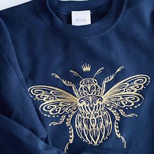 Embroidered Big Queen Bee Sweatshirt