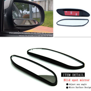2Pcs Car Adjustable Rearview Blind Spot Convex Mirror Side Wide Angle Auxiliary