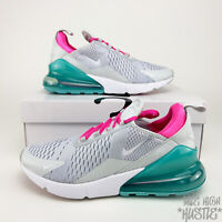 Nike Air Max 270 Women's 9.5 Mens Size 8 South Beach Teal White Pink Sneakers