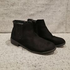 CAT & JACK Girls MicroSuede Black Booties Fashion Boots Shoes Size 2